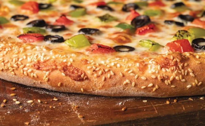 Sesame Seed crust pizza